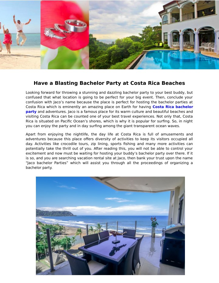 have a blasting bachelor party at costa rica n.