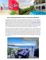 have a blasting bachelor party at costa rica