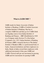 what is jaiib dbf