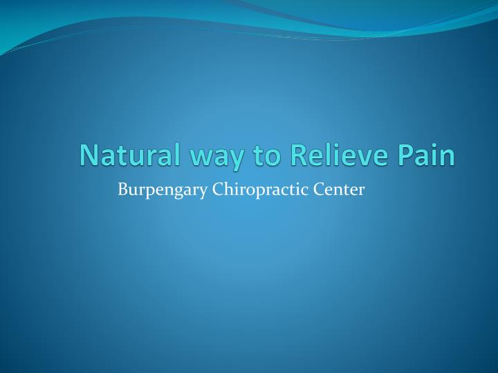 natural way to relieve pain n.