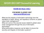 iscom 383 cart successful learning 14