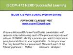 iscom 472 nerd successful learning 11