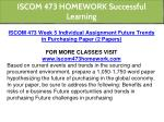 iscom 473 homework successful learning 15