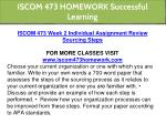 iscom 473 homework successful learning 5