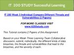 it 200 study successful learning 10