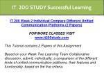 it 200 study successful learning 6
