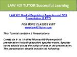 law 421 tutor successful learning 15