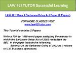 law 421 tutor successful learning 16