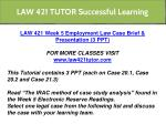 law 421 tutor successful learning 17