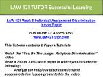 law 421 tutor successful learning 18