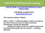 law 421 tutor successful learning 5