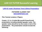 law 421 tutor successful learning 6