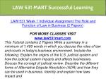 law 531 mart successful learning 11