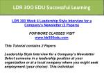 ldr 300 edu successful learning 17
