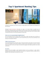 top 8 apartment hunting tips