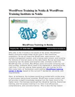 wordpress training in noida wordpress training
