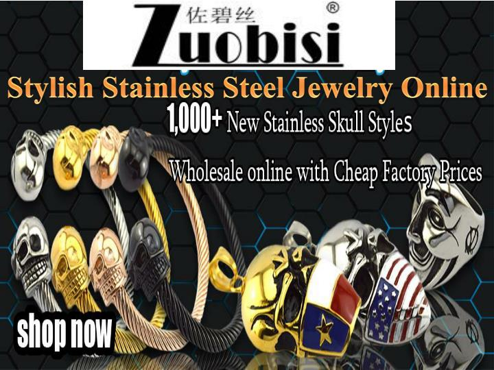 stylish stainless steel jewelry online n.