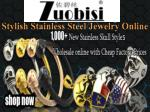 stylish stainless steel jewelry online