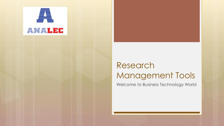 research management tools n.