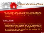 longer duration of lease