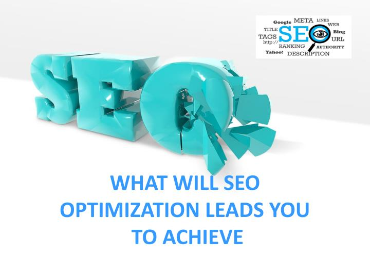 what will seo optimization leads you to achieve n.