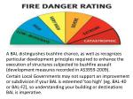 a bal distinguishes bushfire chance as well