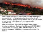 a bushfire attack level bal is a method