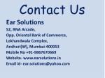 contact us ear solutions 52 rna arcade