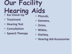 our facility hearing aids ear check up treatment