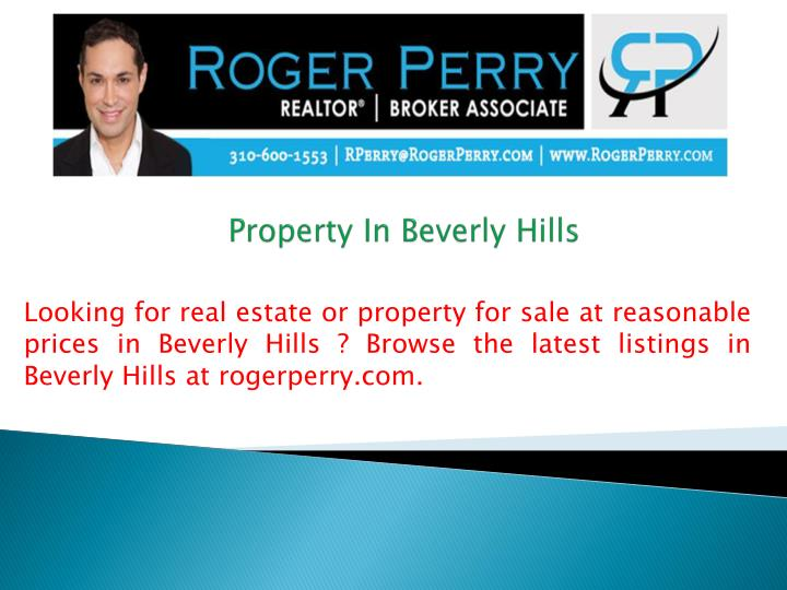 property in beverly hills n.