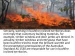 similarly working in bushfire inclined
