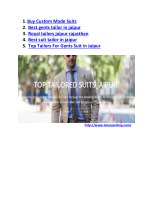 1 buy custom made suits 2 best gents tailor
