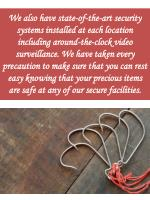 we also have state of the art security systems