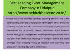 best leading event management company in udaipur http www behindthescene co in 4