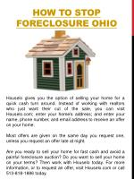 how to stop foreclosure ohio