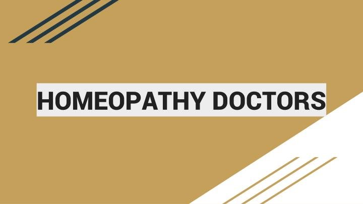 homeopathy doctors n.