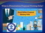 what is dissertation proposal writing help