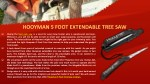 hooyman 5 foot extendable tree saw