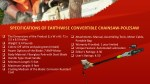 specifications of earthwise convertible chainsaw