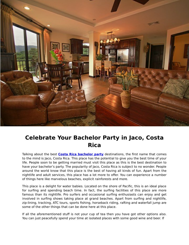 celebrate your bachelor party in jaco costa rica n.