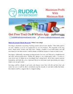 rudra investment market research what is investing
