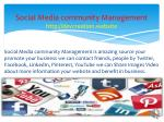 social media community management http devcreation website