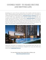 godrej nest to make secure and better life