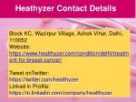 heathyzer contact details