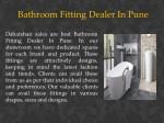 bathroom fitting dealer in pune