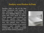 sanitary ware dealers in pune