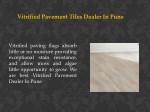 vitrified pavement tiles dealer in pune