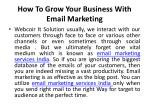 how to grow your business with email marketing 1
