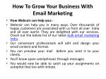 how to grow your business with email marketing 3