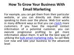 how to grow your business with email marketing 5